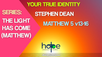 Sunday 16 May 2021 | Stephen Dean | Your True Identity