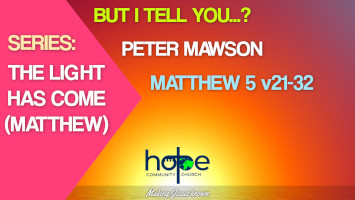 Sunday 30 May 2021 | Peter Mawson | But I Tell You…?