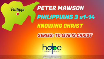 Sunday 29 August 2021   Peter Mawson   Knowing Christ